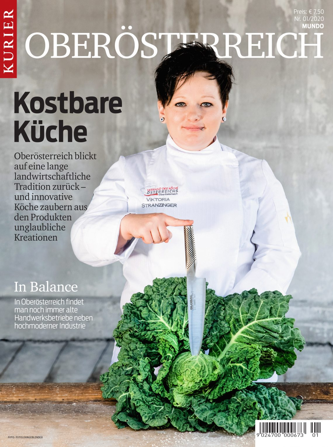 Titelseite Kurier Oberösterreich Magazin, das echte Flesserl